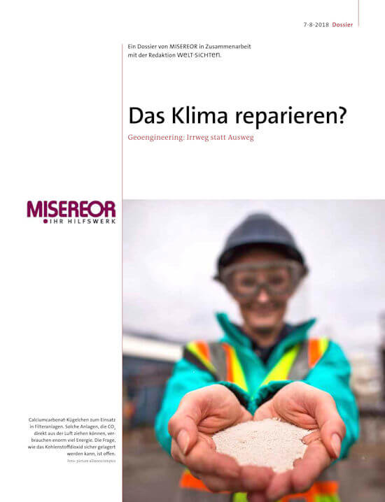 Das Klima reparieren? – Geoengineering