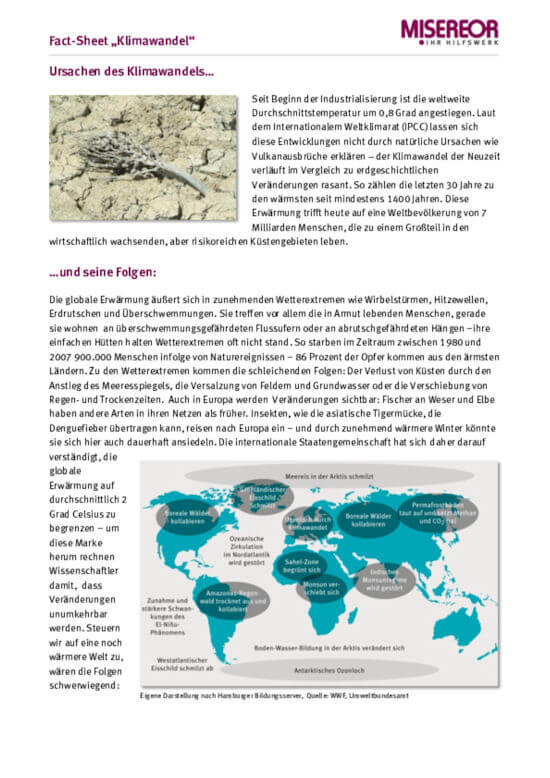 "Fact-Sheet ""Klimawandel"""