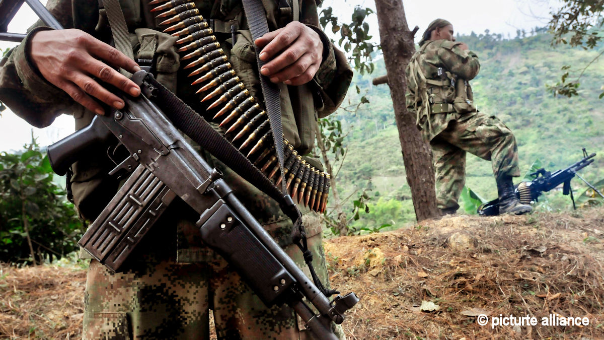 Fighters of Colombian guerrilla FARC